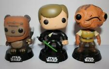 Funko Pop Star Wars ROTJ X 3. #26 Wicket, #11 Jedi Luke & #81 Admiral Ackbar.