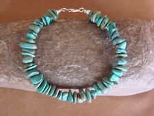 Native Indian Hand Strung Turquoise Nugget Bracelet by Yazzie