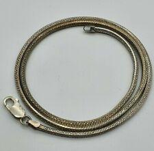 4 Eck 925 Silber Schlangenkette 21.5.20