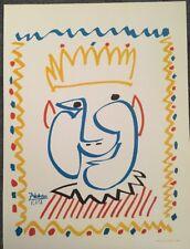 PABLO PICASSO, Offset Lithograph, Vintage, Poster, 1957 Platesigned Platesigned