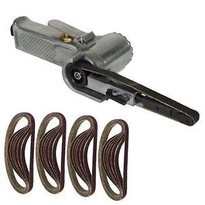 10mm 330 x 10mm Wide Air Finger Belt Sander Power File Detail Sanding + 25 Belts