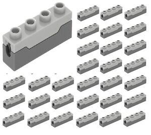 LEGO LOT OF 6 DARK BLUISH GREY SPRING LOADED BLASTER GUN SHOOTER CANNON PARTS