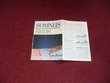 VINTAGE SOMNUS BEDS ADVERTISING LEAFLET