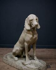 Hunting hound after jacquemart , large stone Dog , Life size Dog hound Big Dog