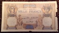 France Banknote. 1000 Francs. Dated 1932. French.
