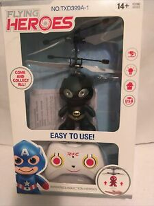 Batman Flying Heroes Infrared Induction Helicopter RC Control BNIB