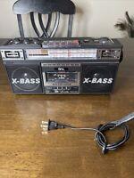 Portable Retro Boombox Radio Recorder Player USB/SD/AUX Cassette MP3 Converter
