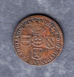 Spanische Niederlande - 1 Liard 1709 in schöner Erhaltung