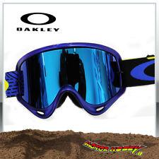 MASCHERA OCCHIALE OAKLEY O-FRAME MX CIRQUIT YELLOW BLUE LENTE SPECCHIO + CLEAR
