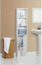 Bathroom Storage Cabinet Tall Linen Towel Organizer Wood Tower Shelves Cupboard