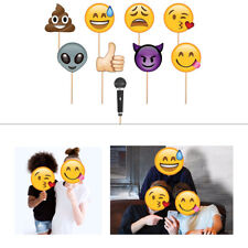 9pcs Emoji Faces Photo Booth Props Funny Mask Birthday Party Selfie Photography