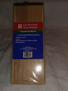 J.A.Henckels International Knife Block 11 Slot Model 35102-112 Natural Wood -NEW