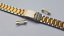 NEW 20MM/10MM 2-TONE STEEL / GOLD PLATED GENTS WATCH STRAP FOR SEIKO (SS-16)