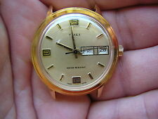 VINTAGE 70'S MENS TIMEX STYLISH DIAL DAY DATE MECHANICAL WATCH NEW OLD STOCK