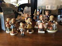 10 Girl Goebel Hummel Figure Lot Congratulations Which Hand Spring Waltz *READ*