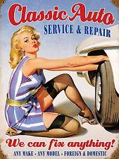 Classic Auto, rétro en métal Aluminium Signe Cuisine, GARAGE AUTO SERVICE, Réparation