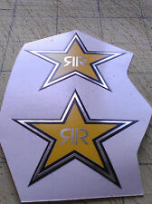 2 x Rockstar Energy 50 x 50mm  Chrome Printed Stars Stickers Monster pegatinas