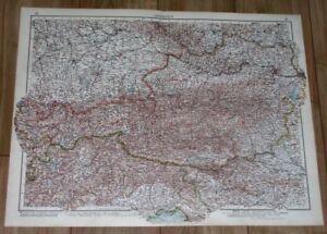1937 ORIGINAL VINTAGE MAP OF AUSTRIA BEFORE ANSCHLUSS / VIENNA WIEN