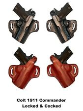 """Colt 1911 Commander 4"""" Barrel Gun Holster Locked & Cocked Carry Made By Tagua"""