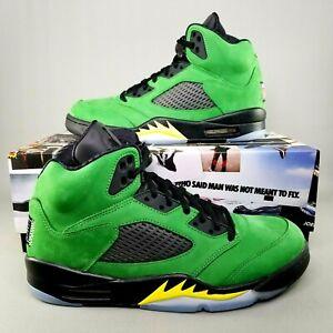 Nike Air Jordan 5 Retro SE Oregon Basketball Shoes Mens Size 10 Apple Green