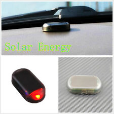 One Pcs Solar Powered Auto Simulated Anti-theft Alarming Flashing Red LED Light