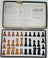 Vintage Milton Bradley Company Wooden Chess Men Set 4715