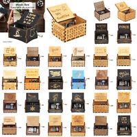 Mini Spieldose Gravierte Holz Interessant Spielzeug Geburtstag Hochzeitsgeschenk