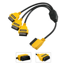 AUTOOL OBD2 16PIN 1 to 3 Splitter Extension Cable Diagnostic Extender Connector