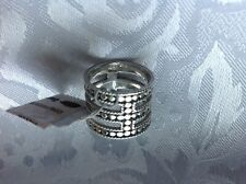 *ANNA*BECK*SIZE(5.5)STERLING*SILVER*TRIPLE*BAR*RING*FROM*NORDSTROM*RACK*$225.00*