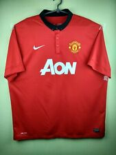 Manchester United jersey 2Xl 2013 2014 home shirt 532837-624 Nike football red