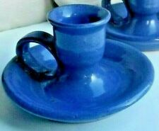 Bybee Pottery Candle Holder Bybee Blue