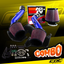 07-09 350Z V6 3.5L Blue Cold Air Intake + K&N Air Filter