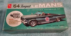 57 year old AMT-1964 Pontiac Tempest LeMans convertible 3in1 kit  100% & unbuilt