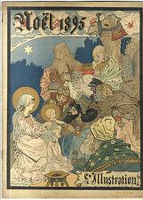 REVUE ANCIENNE L' ILLUSTRATION NOEL 1895 ART NOUVEAU MAURICE DE LAMBERT   CRECHE