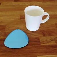 Sassolino A forma di Blu Acciaio A Specchio Acrilico Sottobicchieri,Set da