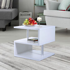 HOMCOM Coffee End Table Side TV Sofa Stand Living Room Office