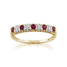 Anelli di lusso con gemme naturale in oro giallo con rubino