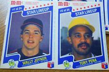 1987 M & M's Baseball Card Set(24 cards)Nolan Ryan,Cal Ripken, Mike Schmidt +