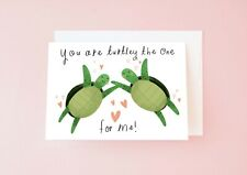 Funny Turtle Valentine's Day Card, Cute Turtle Pun Love Card