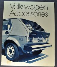 1976 Volkswagen Accessories Brochure Rabbit Dasher Scirocco Beetle Original VW