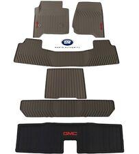 2015-2018 GMC Yukon Complete Premium All Weather Floor Mat Pkg Dune OEM GM