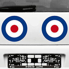 2 Aufkleber Tattoo 23cm Target Mod UK Scooter Decal Deko Folie Auto Roller Vespa