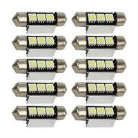 Car White Truck 10pc Light 5050 3SMD LED Interior Roof Cabin Lamp 12V 1.5W