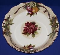 "STUNNING 222 FIFTHS FINE CHINA YULETIDE CELEBRATION 12 3/4"" PASTA SERVING BOWL"
