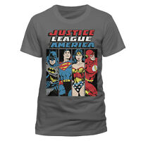 OFFICIAL DC COMICS Justice League Line Up T Shirt Mens S M XL NEW