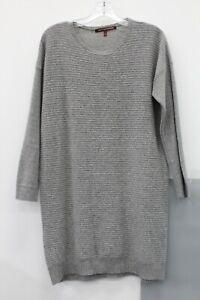 Comptoir Des Cotonniers Women's Gray Wool Knit Long Sleeve Sweater Dress Size S
