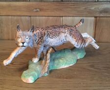 Vintage Franklin Mint Great Cats Of The World Spanish Lynx Figurine 1989
