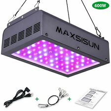 MAXSISUN 600W LED Grow Light Full Spectrum IR for Indoor Horticulture Plants