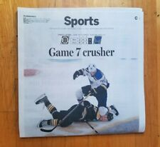 St Louis Blues 2019 Stanley Cup Champions Newspaper Boston Globe Blues Win