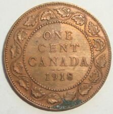1918 CANADA ONE 1 CENT GEORGE V LARGE PENNY COIN